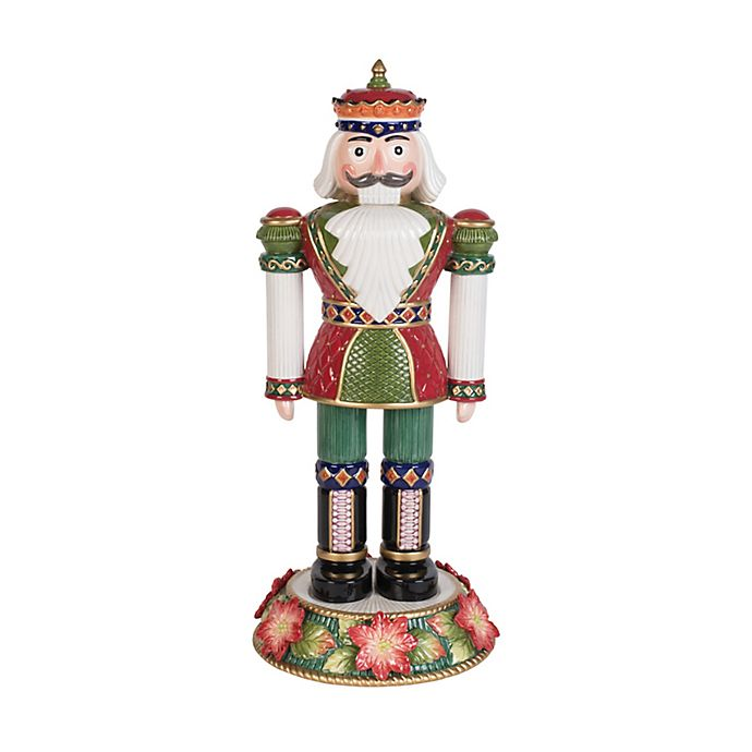 Alternate image 1 for Fitz and Floyd® 16.75-Inch Holiday Poinsettia Nutcracker