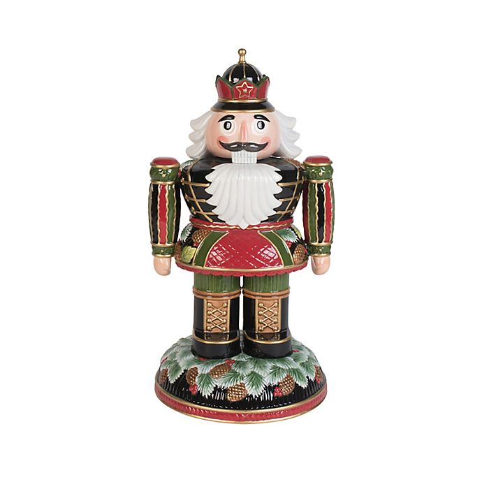 Alternate image 1 for Fitz and Floyd® 14.5-Inch Holiday Pine Cone Nutcracker
