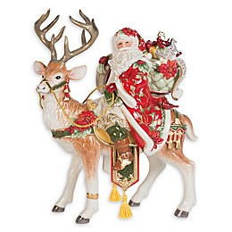 Fitz and Floyd® Cardinal Christmas Santa and Stag Figurine