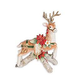 Fitz and Floyd® Cardinal Christmas Right Deer Candleholder