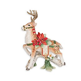 Fitz and Floyd® Cardinal Christmas Left Deer Candleholder