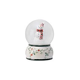 Pfaltzgraff® Winterberry Snowman Snow Globe