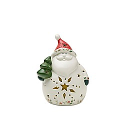 Pfaltzgraff® Winterberry LED-Lit Santa Figurine