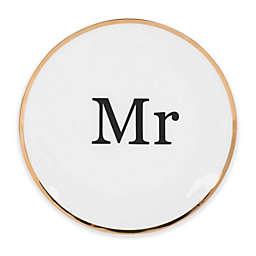 """Olivia & Oliver® Harper Gold """"Mr."""" Dessert Plate"""