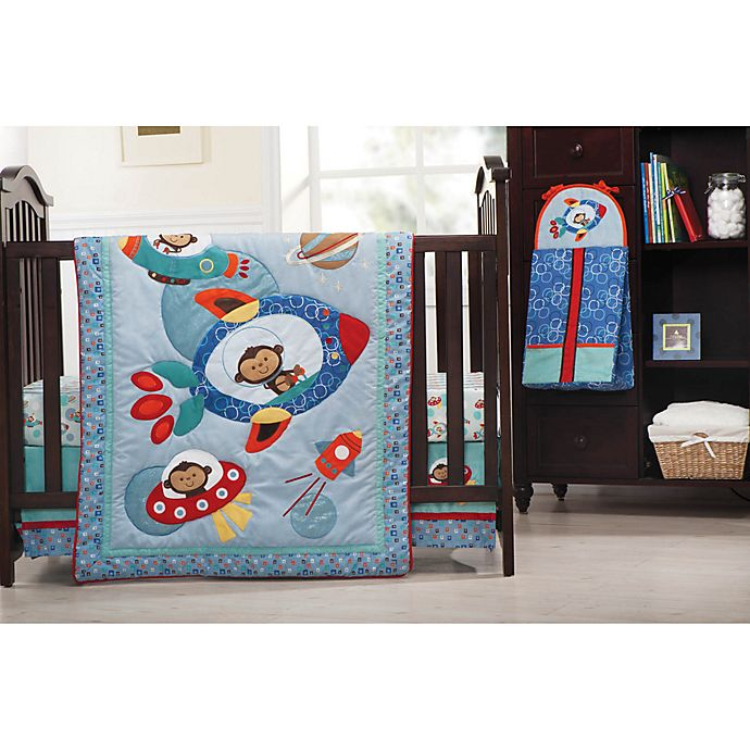 Kids Line™ Astro Monkey Crib Bedding Collection | buybuy BABY