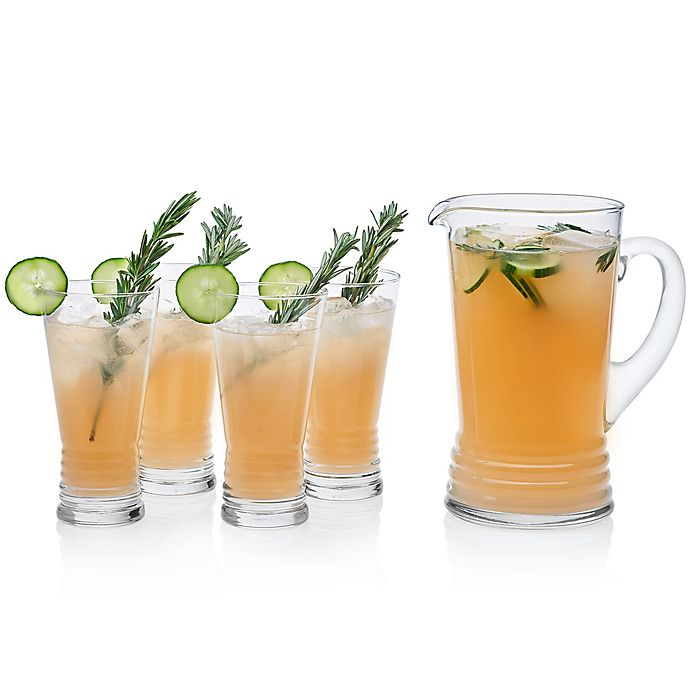 Alternate image 1 for Libbey® Monclova 5-Piece Pitcher and Drinking Glasses Set