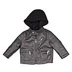 Urban Republic Size 18M Buffalo Faux Leather Jacket in Charcoal