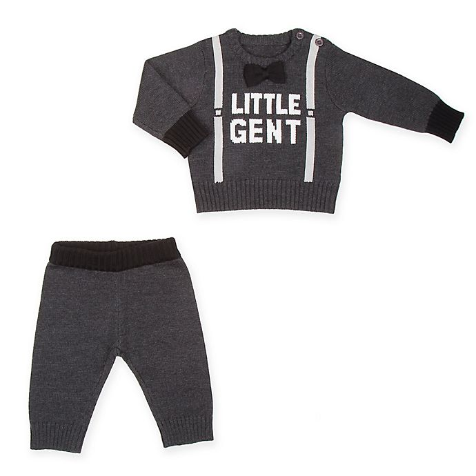 37f274eaeb Beetle & Thread 2-Piece Little Gent Sweater Set in Grey | Bed Bath ...