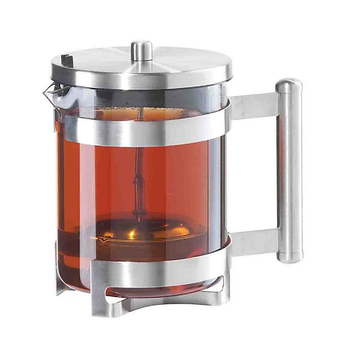 Alternate image 1 for Oggi™ Borosilicate Glass Teapot with Lift-Out Stainless Steel Tea Infuser