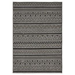 Unique Loom Stars Indoor/Outdoor Rug in Grey