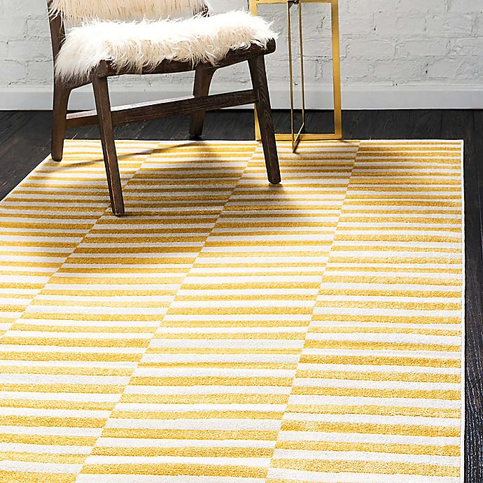 Alternate image 1 for Unique Loom Striped Tribeca Powerloomed Area Rug