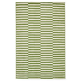 Unique Loom Striped Tribeca Powerloomed Area Rug