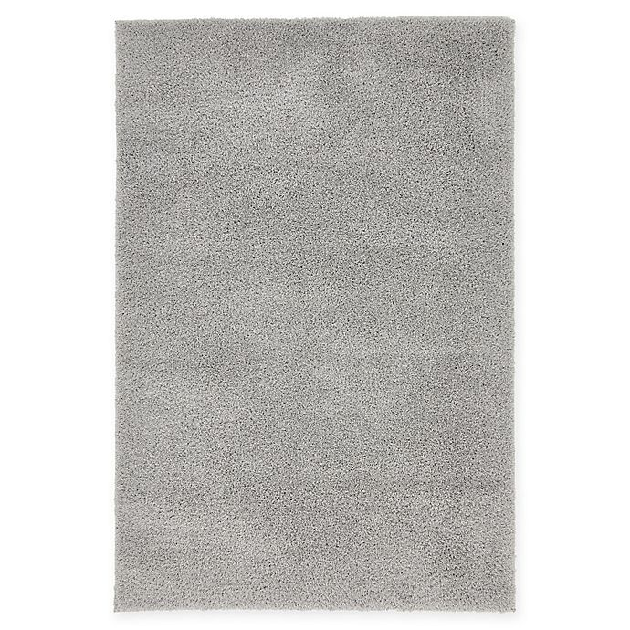 Alternate image 1 for Unique Loom Solid Shag 4' X 6' Powerloomed Area Rug in Light Gray