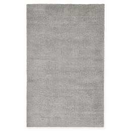 Unique Loom Solid Shag Area Rug in Light Grey