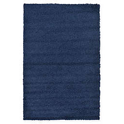 Unique Loom Solid Shag Powerloomed Rug in Navy