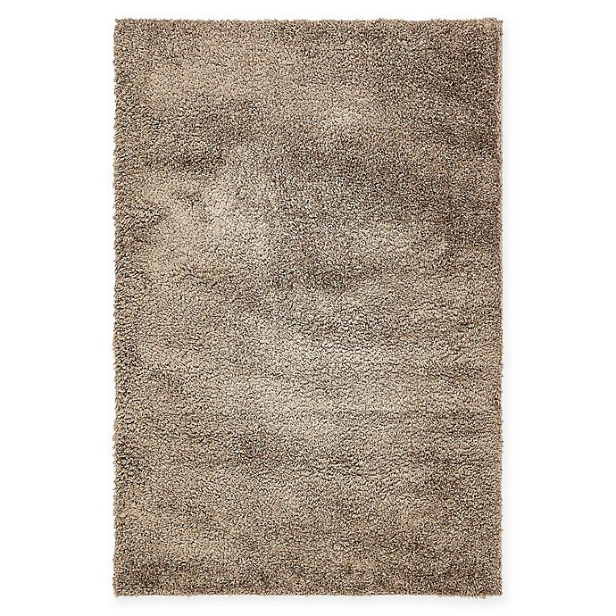 Alternate image 1 for Unique Loom Solid Shag 4' X 6' Powerloomed Area Rug in Brown