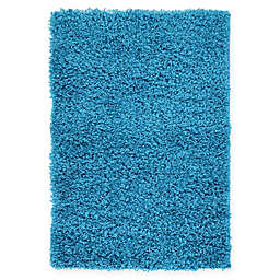 Unique Loom Solid Shag 2'2 x 3' Powerloomed Area Rug in Turquoise