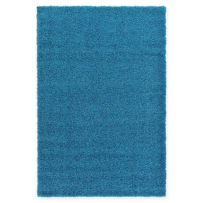 Alternate image 1 for Unique Loom Solid Shag 5' X 8' Powerloomed Area Rug in Turquoise
