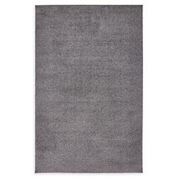 Unique Loom Solid Shag Area Rug in Dark Grey