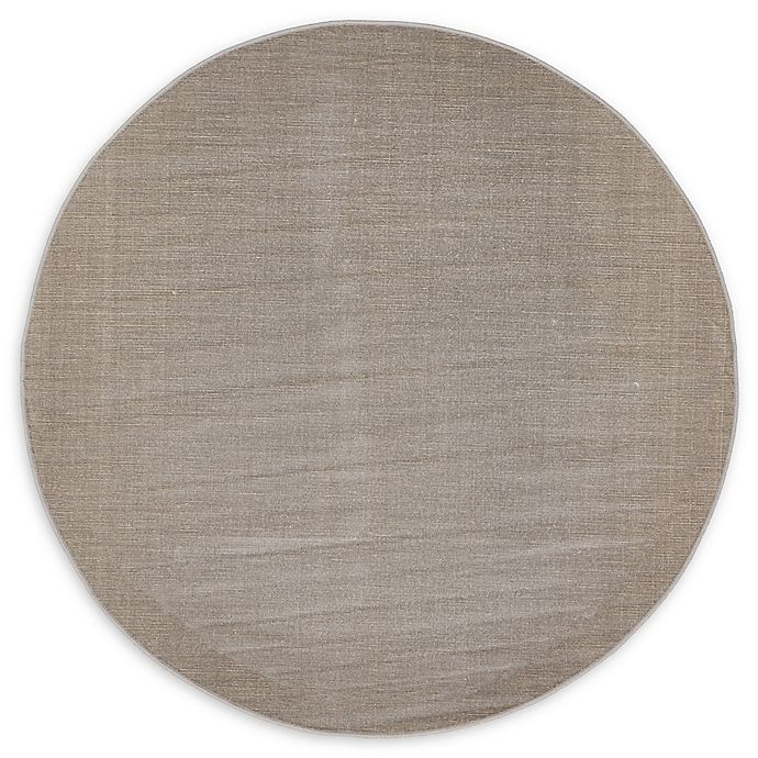 Alternate image 1 for Unique Loom Solid Tribeca 5' Round Powerloomed Area Rug in Gray