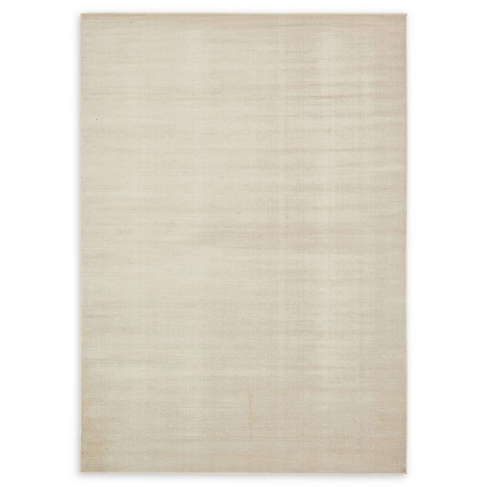 Alternate image 1 for Unique Loom Solid Tribeca 7' X 10' Powerloomed Area Rug in Beige