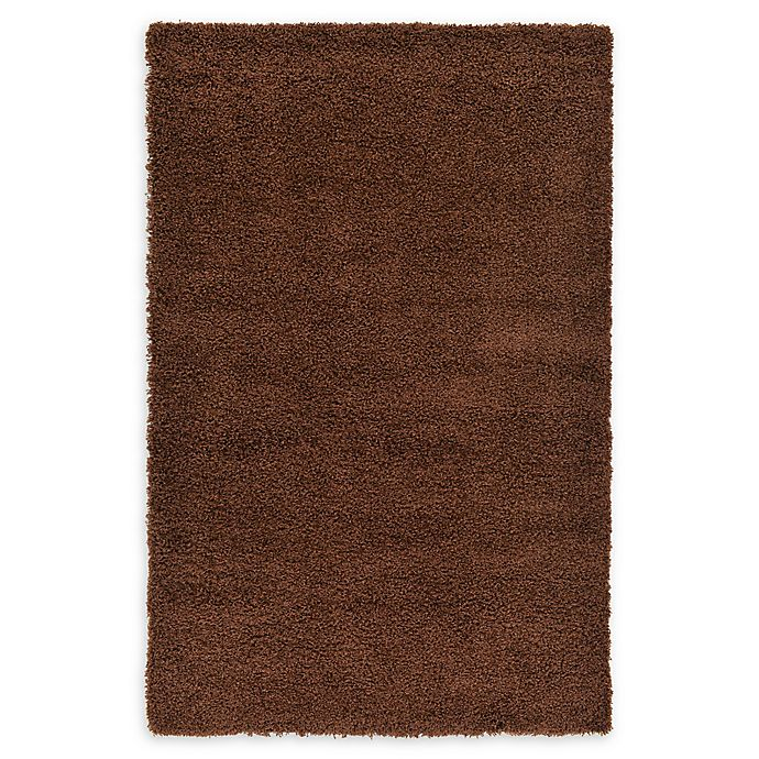 Alternate image 1 for Unique Loom Solid Shag 5' X 8' Powerloomed Area Rug in Chocolate Brown