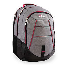 FILA Windstorm Laptop Backpack in Grey/Fuchsia