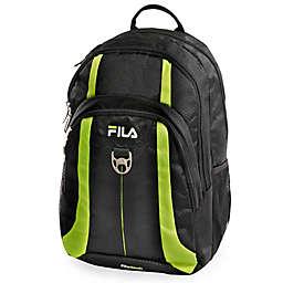 53362bfdeb6c FILA Edge Laptop Backpack in Black Neon Green