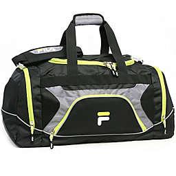 FILA Donlon 25-Inch Sports Duffle Bag in Black/Neon
