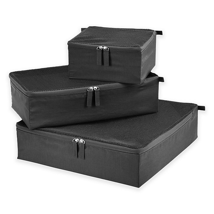 Alternate image 1 for Ricardo Beverly Hills Packing Cubes in Graphite (Set of 3)