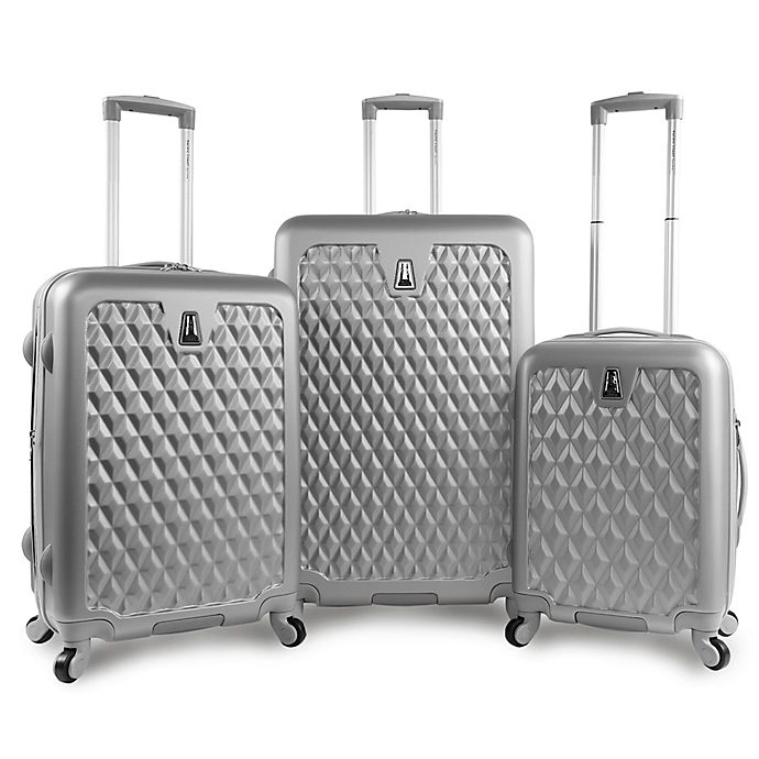 delicate colors brand quality vivid and great in style Pacific Coast Pandora 3-Piece Luggage Set in Silver