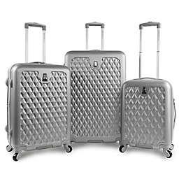 Pacific Coast Pandora 3-Piece Luggage Set in Silver