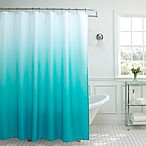 Ombre Weave Shower Curtain in Turquoise