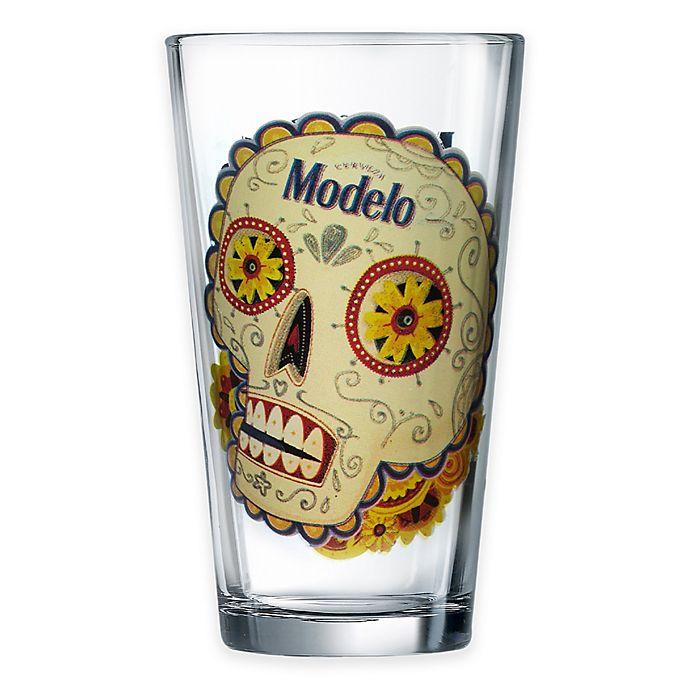 Alternate image 1 for Luminarc Modelo Day of The Dead Colored Skull Pub Glass