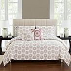 Tamara Reversible 9-Piece King Comforter Set in Brick