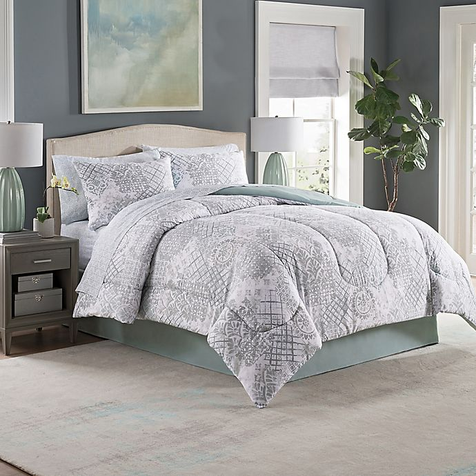Alternate image 1 for Adeline 8-Piece Full Comforter Set in Seaglass