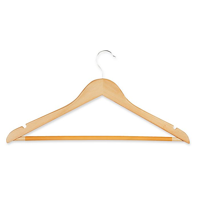 Alternate image 1 for Honey-Can-Do® 28-Pack Wooden Suit Hangers
