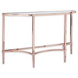 Madison Park Signature Triton Console Table in Rose Gold