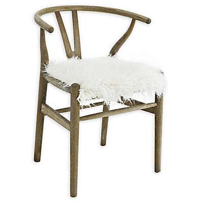 Linon Home Roxanne Wishbone Chair in Grey