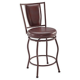 Linon Home Jefferson Bar Stools in Brown (Set of 3)