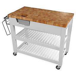 Chris & Chris Chef Kitchen Work Station Cart in White