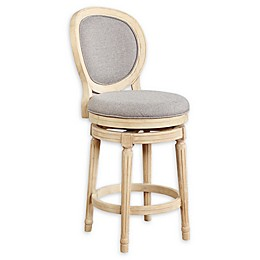 Linon Home Dune Swivel Counter Stool in Natural