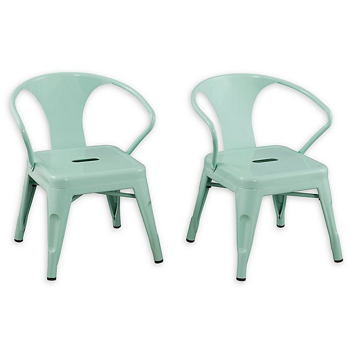 Alternate image 1 for Acessentials® Metal Chairs in Mint (Set of 2)
