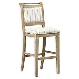 Linon Home Drake Bar and Counter Stool in Grey