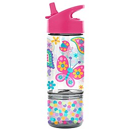 Stephen Joseph Butterfly 8 oz. Sip and Snack Bottle