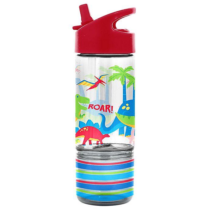Alternate image 1 for Stephen Joseph Dinosaur 8 oz. Sip and Snack Bottle