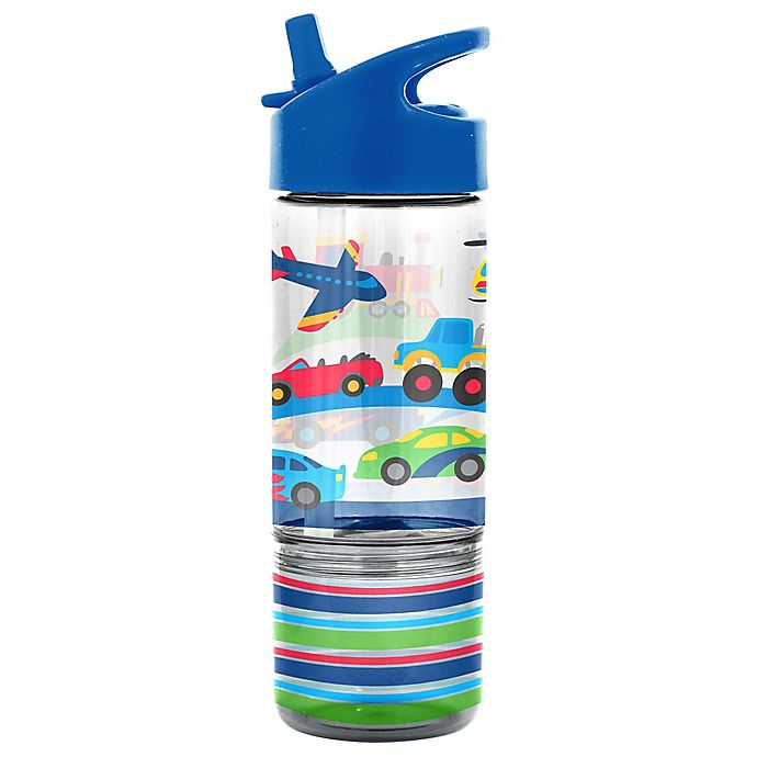 Alternate image 1 for Stephen Joseph Transportation 8 oz. Sip and Snack Bottle