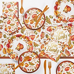 Creative Converting 73-Piece Fall Give Thanks Thanksgiving Party Supplies Kit