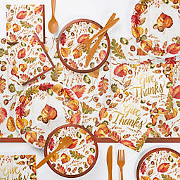 Creative Converting Fall Give Thanks Thanksgiving Party Supplies Kit