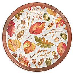 Creative Converting 24-Count Fall Give Thanks Thanksgiving Paper Dessert Plates